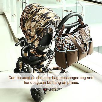 Stor kapacitet axel mor väska baby blöjpåsar med justerbar rem