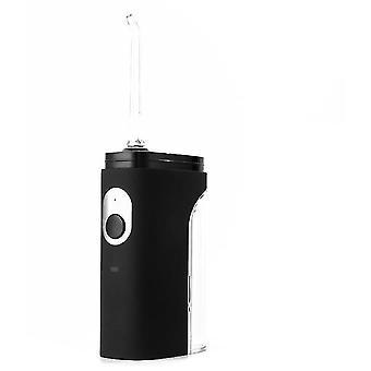Bærbar elektrisk tandrenser, vandtråd, mini professionel tandrensningsmaskine (sort)