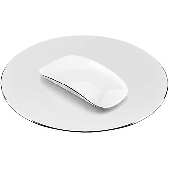 Round Aluminum Metal Mouse Pad With Anti-slip Base
