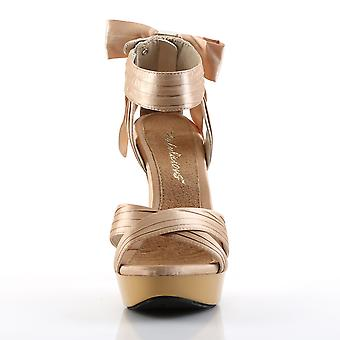 Fabulicious Women's Shoes COCKTAIL-568 Champagne Satin/Champagne