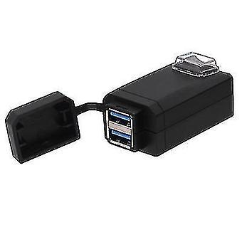 12-24v universal motorcykel QC 3.0 dobbelt USB-biloplader med kontakt