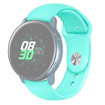 Solid colour siliconen band horloge voor Galaxy Watch Active 2 Size L Mint Green