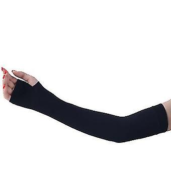 Outdoor sports cycling camping sun protection sleeves, arm protection sleeves(Black)