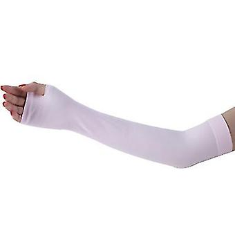 Outdoor sports cycling camping sun protection sleeves, arm protection sleeves(Pink)