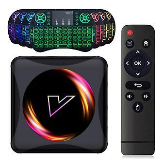 Vontar Z5 TV Box Media Player Android 10.0 Kodi s bezdrôtovou RGB klávesnicou - 4K - 4GB RAM - 64GB Úložisko