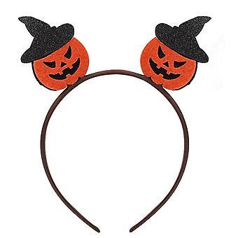6PCS Glitter Halloween Hair Bands for Girls Cartoon Ghost Pumpkin Children Headbands Kids Cute
