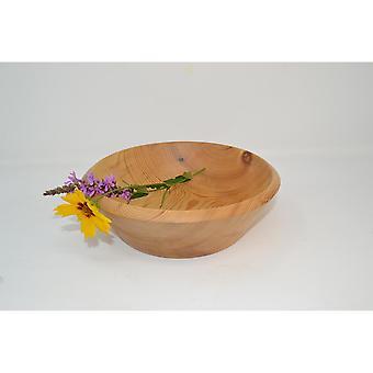 Holzschale Dekoschale Obstschale Schale Schüssel ∅22x7 cm Holzschüssel Lärche Handmade Holzdekoration Dekoschale Geschenk Obstschale