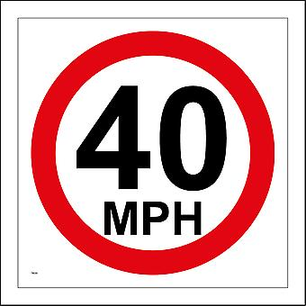 TR030 40 Mph Sign with Circle