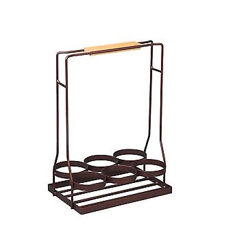 European-style creative wrought iron hand-held convenient wine rack and basket, bar KTV drinks and