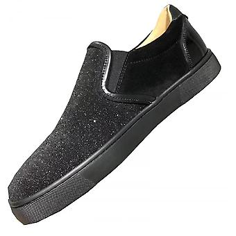 Red-soled Shoes Black Flash Pink Men's Shoe Ring Nail Low Help Shoes Tide Shoes European And American Women's Shoes Tide