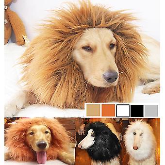 Süßes Haustier Cosplay Kleidung Verklärung Kostüm Löwe Mähne Winter Warme Perücke Katze Großer Hund Party Dekoration mit Ohr Haustier Kleidung
