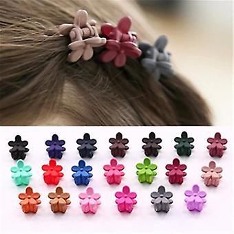 Set Of 10pc Flower Shape Mini Hair Clips For Baby