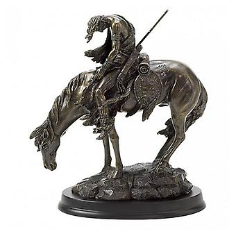 Accent Plus Frazer's End of the Trail Sculpture - Bronze, Pack of 1