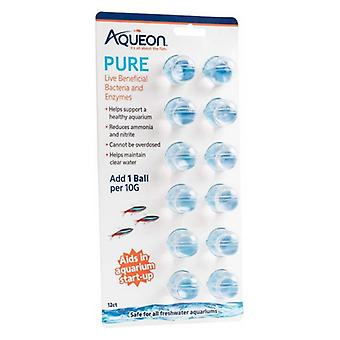 Aqueon Pure LIve Beneficial Bacteria and Enzymes for Aquariums - 12 count