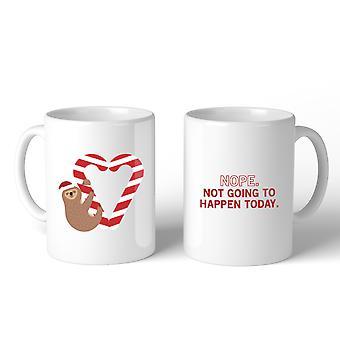 Oso perezoso corazón bastón de caramelo taza Navidad regalo Idea Linda tazas de cerámica