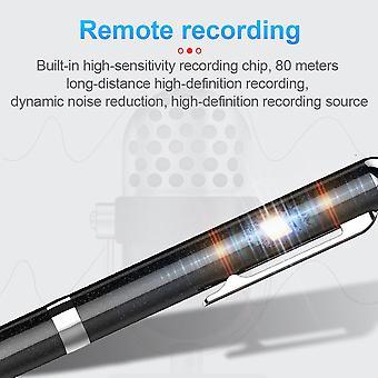 128B digitális hangrögzítő fém professzionális toll hangfelvétel WAV 192Kpbs Újratölthető