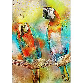 Bluebird Parrots Jigsaw Puzzle (1000 Pieces)