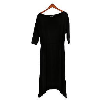 Brittany Humble Petite Dress B.E. Ready Dolman Sleeve Midi Dress Black 753827