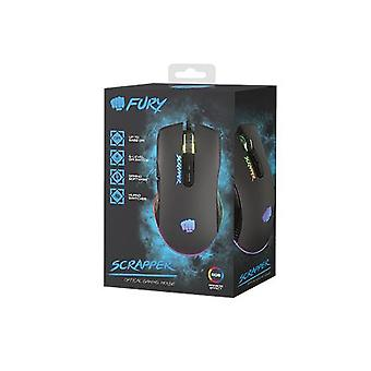 Fury Gaming Mouse Fury Scrapper Wired, 500-6400 DPI, black
