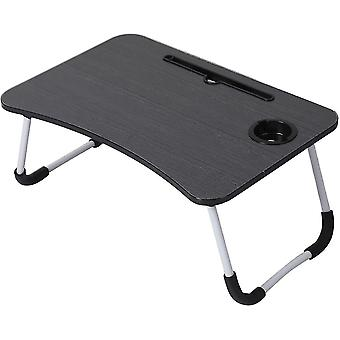 Folding tables foldable laptop bed table breakfast tray black