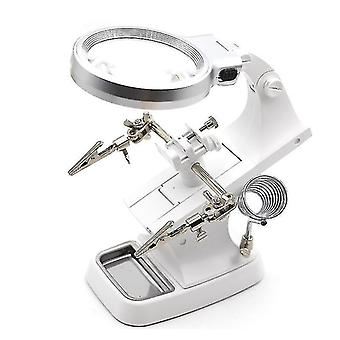 Telescopes 3x 4.5X welding led loupe magnifier soldering iron magnifying glass alligator clip holder hand