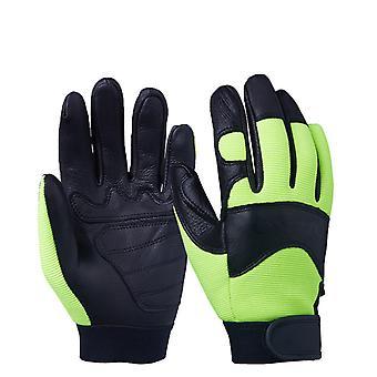 Teplé rukavice Zimní rukavice Polo kožené rukavice Jezdecké rukavice Motocykl Fitness Rukavice Zelené