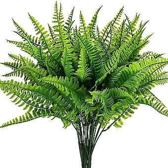 Printemps artificiel Réaliste Plante à feuilles vertes 6pcs