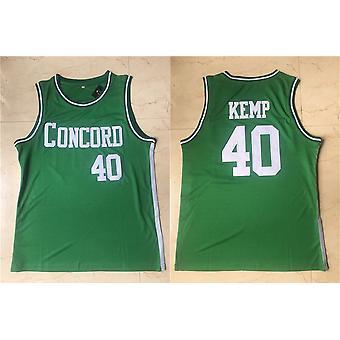 मेंस बास्केटबॉल जर्सी कॉनकॉर्ड अकादमी केंप 40 स्पेस मूवी जर्सी 90 के दशक हिप हॉप क्लोदिंग फॉर पार्टी एस-xxl ग्रीन