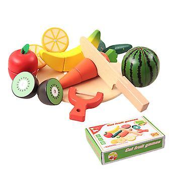 Simulation de machine de découpe de fruits et légumes en bois Jouets pour enfants