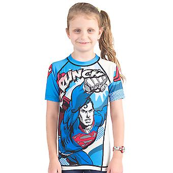 Fusion Kampf Gear Kid Superman Krunch Short Sleeve Rashguard