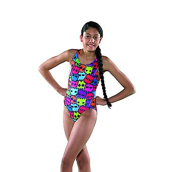 Maru Girls Pacman Pacer Rave Back Swim Suit - Multicoloured