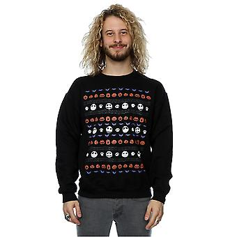 Disney Herren Nightmare Before Christmas Halloween Icons Sweatshirt