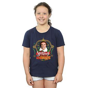 エルフの女の子の親友 t シャツの笑顔