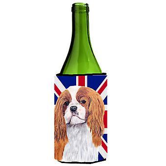 Cavalier Spaniel con inglese Union Jack bandiera britannica bottiglia di vino bevanda Insul