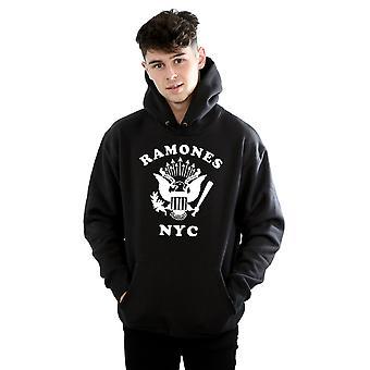 Águila Retro Nueva York sudadera con capucha Ramones los hombres