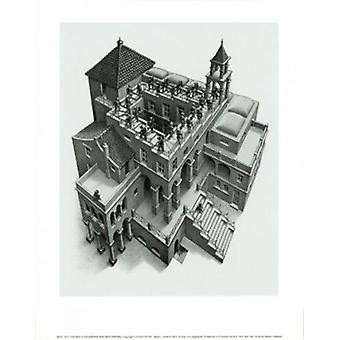Ascending and Descending MC Escher Poster Poster Print