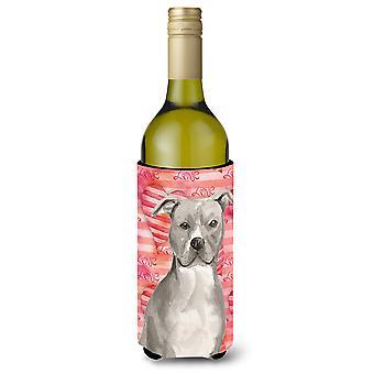 Staffordshire Bull Terrier amor botella de vino Beverge aislador Hugger