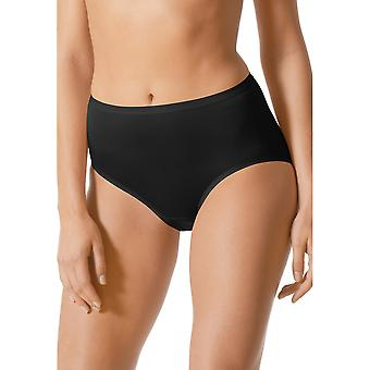 Mey 89203-3 Women's Black Solid Colour Full Panty Highwaist Brief