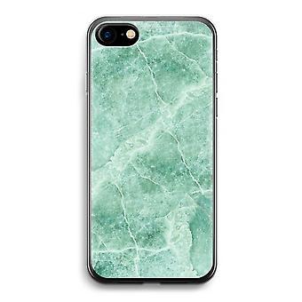 iPhone 7 transparante Case (Soft) - groen marmer