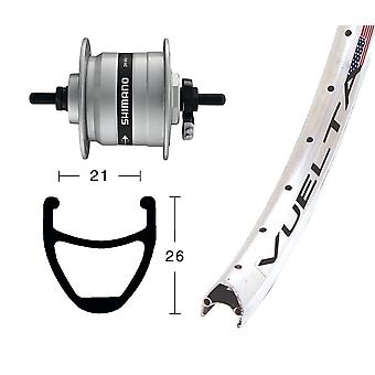 Bike parts 28″ front wheel Rodi airline 1 + Hub Dynamo Shimano DH-C3000
