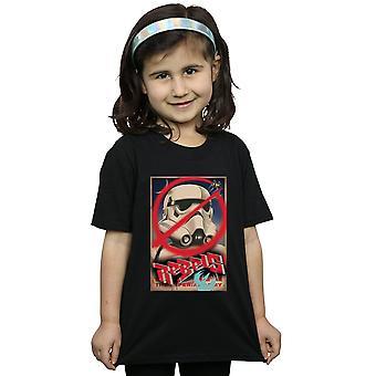 Star Wars Girls kapinallisten juliste t-paita