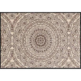 Salon lion paillasson médaillon tapis lavables saleté de nougat