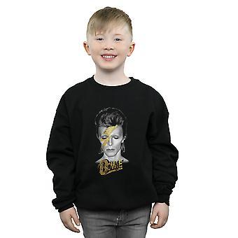 David Bowie ragazzi Aladdin Sane Bolt oro Sweatshirt