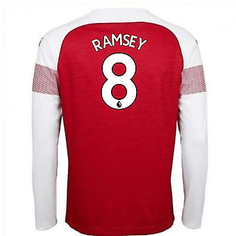 2018-2019 arsenal Puma Accueil manches longues chemise (Ramsey 8) - enfants