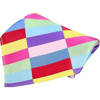 Posh and Dandy Rectangle Pattern Silk Pocket Square - Multi-colour
