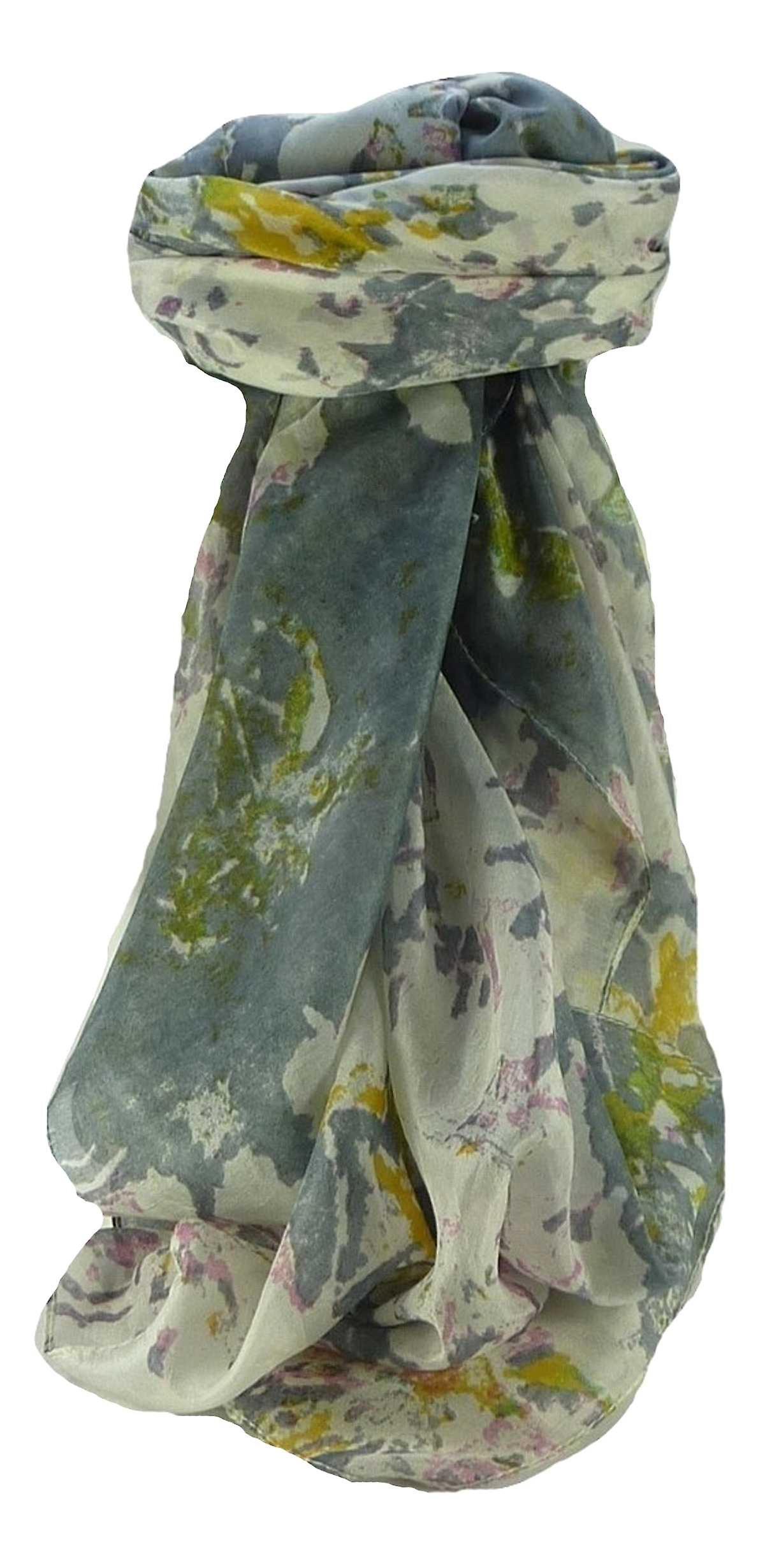 Mulberry Silk Contemporary Square Scarf Floral F224 by Pashmina & Silk