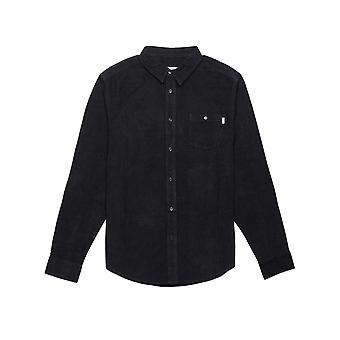Rhythm Corduroy Long Sleeve Shirt in Black