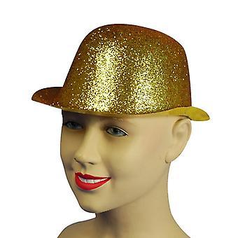 Glitter goud Plastic Bowler.