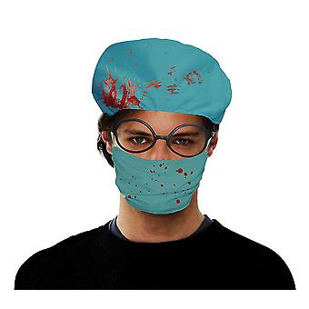 Surgeon Set Bloody (Hat + Face Mask)