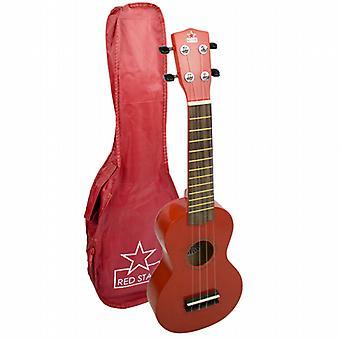 Red Soprano Ukulele - Beginners Ukulele with Bag